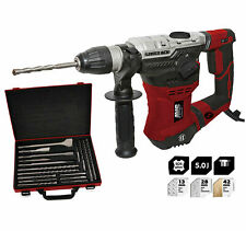 Lumberjack Rotary Hammer Drill 240V Complete with 17 Piece SDS Chisel Bit Set