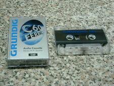 GRUNDIG Cassette audio C60 FERRIC lotto 10 musicassette vergini TAPE HI-FI
