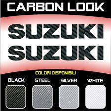 2 Adesivi Stickers Moto Suzuki 3D Carbonio