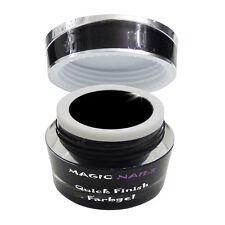 Quick Finish Farbgel High Glossy Gel ohne Schwitzschicht schwarz 5ml