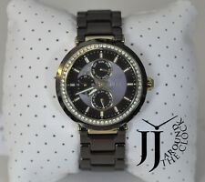 New Fossil Brown Chocolate Ceramic Analog Dial Gold Multifunction Watch CE1046