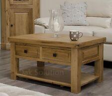 Regent solid oak furniture living room lounge storage coffee table