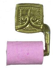 Gold Porte-rouleaux de papier salle de bain accessoire pour une maison de poupées, miniature
