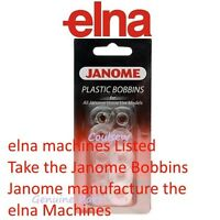 GENUINE ELNA SEWING MACHINE BOBBINS x 10 **GENUINE ELNA / JANOME PACKED BOBBIN**