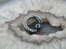 Anello di bloccaggio Nero Piercing Blackline setto Celtic trecce petto orecchino celtico