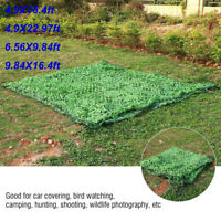 Woodland Camouflage Netting Military Camo Car Covering Hide Cover Net US