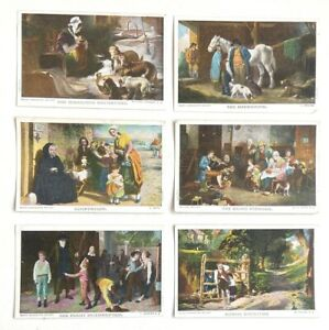 FAMOUS PAINTINGS IN LONDON ART GALLERIES, 6 POSTCARDS, Early 20thc