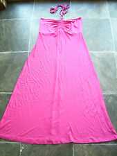 BNWT Women's Hot Pink Strapless Long Knit Dress Size 10