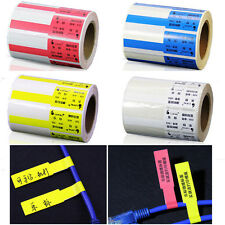 500pcs Self-adhesive Cable Labels Waterproof Identification Markers Tags