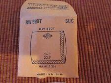 SUC ROCKET CYLINDER PLASTIC WATCH CRYSTAL NOS RW 680T HAMILTON 26.2 X 23.9