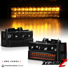 New Pair Left+Right Smoke Headlamp+Bumper Corner Signal Parking Amber Lamps PAIR