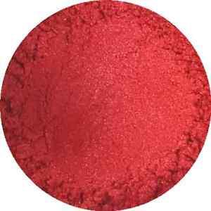 Fiery Red Cosmetic Mica Powder 3g-50g Pure Soap Bath Bomb Colour Pigment