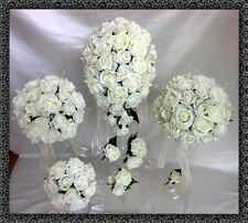 Brides,Bridesmaids,Flowergirl wedding bouquet, buttonholes,corsages Pink,Ivory
