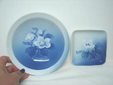 2 x Vintage Bing & Grondahl Copenhagen plates flower decoration