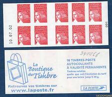 Carnet - 3419 C6 - 10.07.02 Bas -Type Marianne du 14 Juillet RF - TVP rouge N° 3