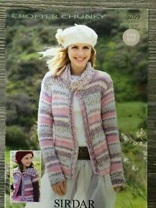 "Sirdar Crofter Knitting Pattern: Ladies & Girls Jackets, Chunky, 24-46"", 9209"
