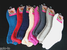 6 Pairs Womens Ladies Girls Bed Socks Size 2-8 Assorted Plain Colors New (P3)