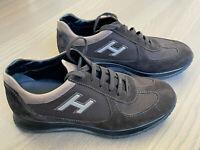 HOGAN - Scarpe Uomo Sneakers Stringate Scamosciate Pelle Marrone TG. 5,5 - 39,5