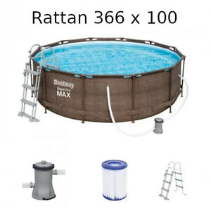 Bestway Steel Pro MAX Rattan 56709 Pool 366 x 100  366x100 Modell. 2021 NEU !