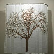 Creative Home Decor Polyester Brown Tree Waterproof Shower Curtain Bathroom