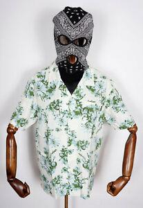Huf Worldwide Skateboard T-Shirt Tee Woven Hemd Dazy Resort Unbleached in M