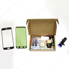 Kit Cristal Samsung Galaxy S7 Black con Herramientas Linterna Pegamento UV NEGRO