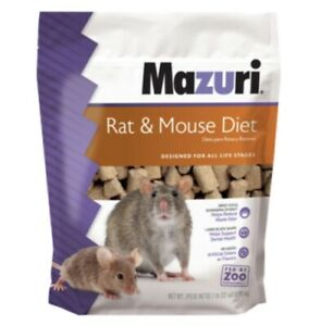 Mazuri Rat and Mouse Diet, 5663, 2lb Bag, For All Life Stages, Rodent Food
