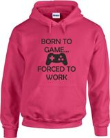 Born to Game Printed Hoodie for Gamers Full Sleeve Mens Womens Hooded Hoody