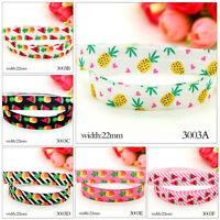5 Yards Grosgrain Pineapple Watermelon Printed Pattern Ribbon Craft - 22mm