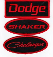 DODGE SHAKER CHALLENGER BLACK RED EMBROIDERED SEW/IRON ON PATCH BADGE MOPAR
