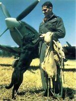 Wing Commander Johnnie Johnson and Sally RAF Spitfire WW2 WWII #102 4x6