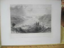 Vintage Print,SUMMER PALACES,WH.Bartlett,Turkey+Greace,Engraving