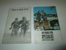 Vintage 1963 1964 Us Army Recruiting Paper & This Is How It Is Booklet