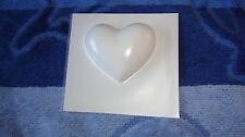 1 mittelgroßes Herz Gießform Seifenform