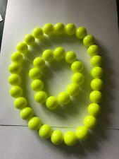 NEON YELLOW  BEAD NECKLACE AND BRACELET