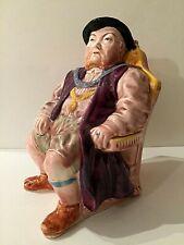 HENRY VIII Toby Jug Music Box, Vintage Melba Ware Staffordshire Large