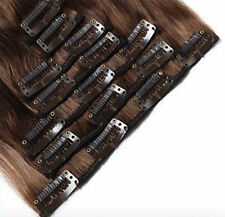 Double Weft Clip in Human Remy Hair Extensions Extra Thick 200G Mixed Color US M