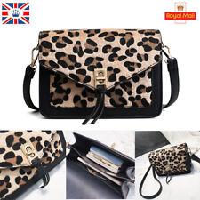 Women Animal Leopard Print Handbag Shoulder Messenger Leather Sling Satchel Bag