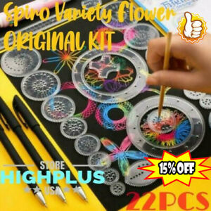 Spiro Variety Flower Ruler Set- 22Pcs Original Kit DEAL