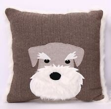Scottie Dog Style Brown Coloured Cushion