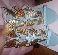 Womens Gold Leaf Wing High Heel Stilettos Roma Summer Sandals Shoes Plus Sz 10