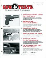 Gun Tests Magazine Volume 5 Number 8 August 1993 9mm Double Actions, SKS Rifles