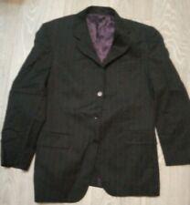 MENS Black wide pinstripe Suit JACKET Office etc  JOHN LEWIS 38S New