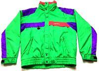 Nevica Vintage Mens Neon Green Zip Up Snowboarding Jacket Size 42