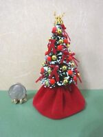 """3 1/2"""" to 4"""" Christmas tree Hand decorated by Jackie Ann's Miniatures M280"""