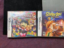 2pc Nintendo DA GamesCarnival Games (Nintendo DS, 2008) Scooby Doo First Frights