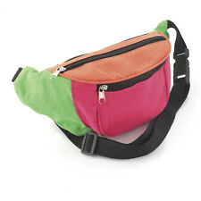 Unisex Retro Bum Bag Neon Pink Orange Green Brand New Festival Camping Holiday