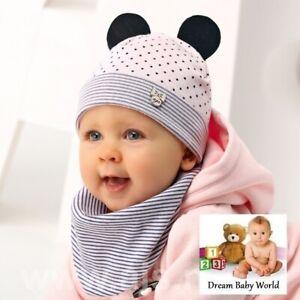 2pcs set BEANIE Rich cotton girls hat with scarf bandana BABY GIRL 6-12 months