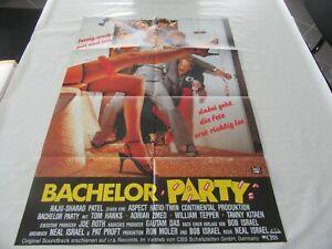 altes Kinoplakat Filmposter A1 BACHELOR PARTY fertig, crazy, geil und irre