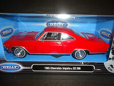Welly Chevrolet Impala SS396 1965 Red 1/24